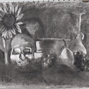 24 x 18 inch paper charcoal